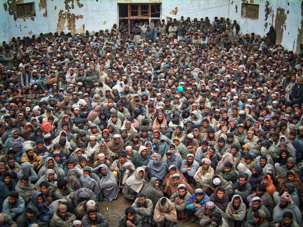 Over 3200 prisoners were kept in Sheberghan © Robert Young Pelton, all rights reserved
